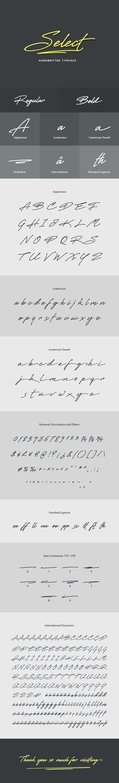 Select #Handwritten #Font - Hand-writing Script