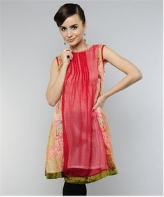 Trendy Pleated Kurti