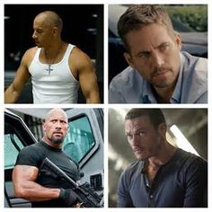 Fast and Furious 6 (2013 All of these men interact with each other in a positive or negative way in this film.From left top, Vin Diesel (Dominic Toretto), right top, Paul Walker (Brian O'Connor), bottom left Dwayne Johnson, (Agent Luke Hobbs), bottom right Luke Evans (Owen Shaw),.
