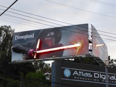 This is an awesome billboard, but if his lightsaber is going through Han Solo on the other billboard, I'm going to be very upset.
