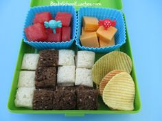 a little snack with funbites squares and BentoSchoollunches