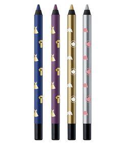 Crayons eye-liner Indigo, Plum, Gold et Silver, Shu Uemura x Maison Kitsuné