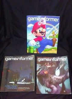Lot of 3 Game Informer game magazines