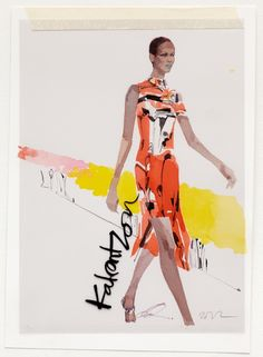 David Downton - Mary Katrantzou for Vogue.com - Fashion Illustration Gallery