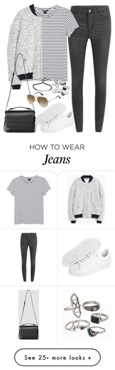 """""""Untitled#3733"""" by fashionnfacts on Polyvore featuring Cheap Monday, Monki, MANGO, AllSaints, adidas Originals, Ray-Ban, Mudd and Monica Vinader"""