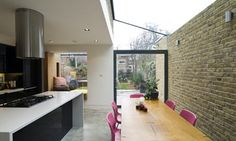side return extension with glass roof Victorian Terrace, Victorian Homes, Home Decor Kitchen, New Kitchen, Glass Kitchen, Side Return Extension, Glass Extension, Extension Ideas, Glass Roof