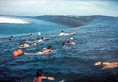 an incredible wave in tahiti
