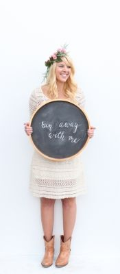 UV;RR June Gift Guide | Round Copper Leaf Chalkboard image 1