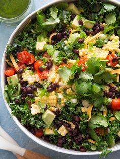 Kale Taco Salad from www.whatsgabycooking.com (@whatsgabycookin)