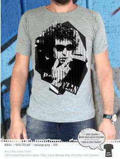 BOB DYLAN Men's t-shirt Concept Clothing, Bob Dylan, Size Chart, Colours, Store, Mens Tops, Cotton, T Shirt, Clothes