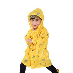 PVC Children Poncho Raincoat Rainwear Fabric Regenjas Cape De Pluie Coat Impermeable Waterproof Raincoat Clothing QQG224 #Affiliate