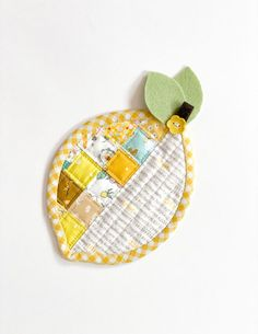 Apple Pear Lemon Coasters Mother's day gift idea sewing pattern