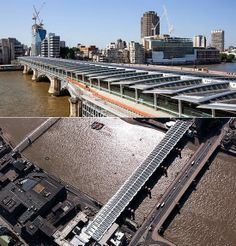 After nearly five years in the making, Network Rail has today cut the ribbon on the world's largest solar-powered bridge at #Blackfriars Bridge across the River Thames.