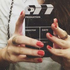 Lights, Camera, ACTION! ❤ -Iphone phone case