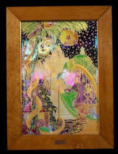 Wedgwood Fairyland lustre 'The Enchanted Palace' wall plaque produced in 1922 number 33 in a limited edition of 250.