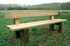 Banc campagnard en bois - Code produit: 15315293 - Cliquez sur la photo pour voir la fiche produit