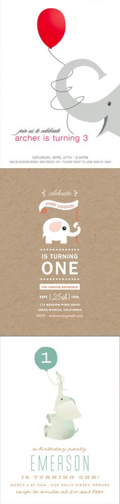 Your little one will have a ton of fun with an elephant themed birthday party… Birthday Party Celebration, Boy Birthday Parties, Birthday Celebrations, Birthday Ideas, Simple First Birthday, Boy First Birthday, Elephant Party, Elephant Birthday, Custom Birthday Invitations