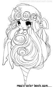 Magic Coloring Pages Online Free Girl Ice Cream Manga Random