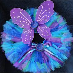 Peacock Fairy Birthday Tutu Costume Set by StrawberrieRose on Etsy, $54.95