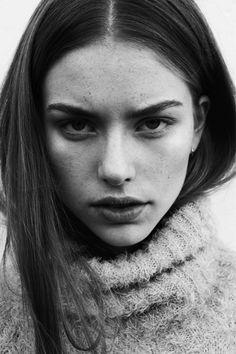 Louise Fankhänel @ Seeds Models by Kári Sverriss | via porcelain silhouettes
