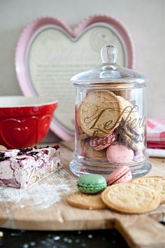 It's all about Hearts ♡ Baking Supplies, Kitchen Supplies, Honey Candy, Rainbow Kitchen, Baking Quotes, Kiss The Cook, Cake & Co, Biscuit Cookies, Shabby Chic Kitchen