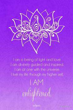 I am enlightened Crown Chakra Affirmation by CarlyMarie