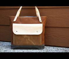 Waxed canvas tote  heavy weight canvas bag and by AlexMLynch, $129.00
