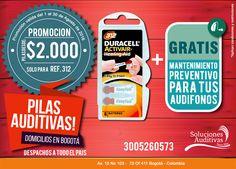 Promoción de Pilas Ref 312 solo por el mes de Agosto. Haz tu pedido YA! Domicilios en Bogotá. #SolucionesAuditivas Tel: 6110808 - Whatsapp: 300 5260573 Audio, Month Of August