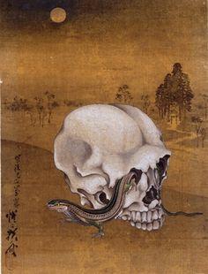 - Skull and lizard -