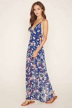 b1feff877b5 Cutout Floral Maxi Dress Shop Forever