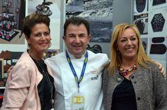 Con Martín Berasategui del #restaurante  #Lasarte . Oria con dos #estrellasmichelin #platosypizarras #restaurantes #catering #chefs #