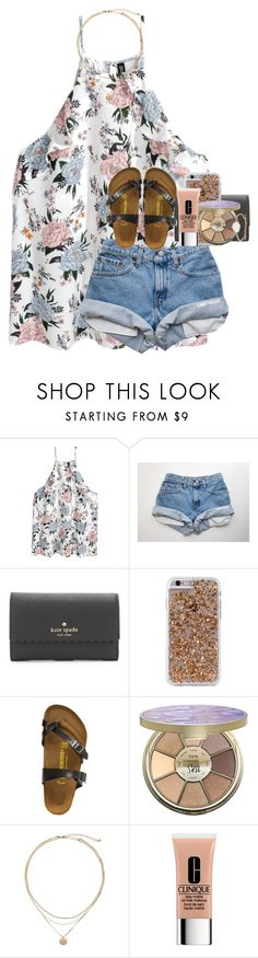 """competition tomorrow"" by kyliegrace ❤ liked on Polyvore featuring Kate Spade, Case-Mate, Birkenstock, tarte, Clinique and Tai"