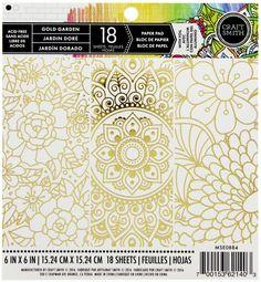 Craft Smith Paper Pad 6x6 - Gold Garden