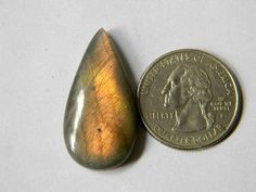 33x17 mm Smooth Labradorite Gemstone Cabochon Super Shiny
