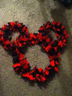 Mickey Mouse Door Wreath Red & Black  by katieskreativekrafts, $20.00