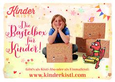 Sinnvoller Bastelspaß im Kistl! Box, Reusable Tote Bags, Game Ideas, Creative, Kids, Snare Drum