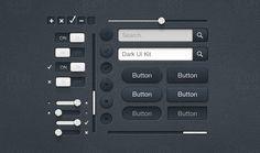 Dark UI Kit