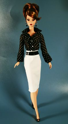 Chic in Black and White by ChicBarbieDesigns on Etsy