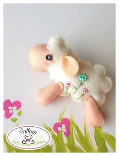 Jumping Sheep PDF sewing pattern-DIY-Felt por LittleThingsToShare                                                                                                                                                                                 Más