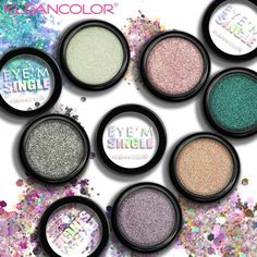 You'll want to grab multiples of these singles! Our new glitter cream shadows, Eye'm Single glide or pat on to wear alone or as a shadow topper that intensifies your look with dazzling particles that adhere to the lid for minimal fallout! Glitter Pigment, Glitter Gel, Glitter Eyeshadow, Black Glitter, Instagram Fashion, Instagram Posts, Casual Dresses For Women, Pink And Gold, Swatch