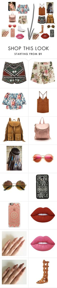 """""""Coachella"""" by tynasia02 ❤ liked on Polyvore featuring Glamorous, VILA, Elizabeth and James, Yves Saint Laurent, Wildfox, Samsung, Casetify, Lime Crime, KG Kurt Geiger and Converse"""