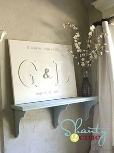 monogram chipboard canvas...Shanty 2 Chic