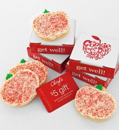 Get Well Cookie Greeting | Cookie Cards | Cheryls.com | Check out other delicious buttercream cookies to send and celebrate. Each gift also includes a $5 reward card!