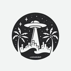 Working on a bunch of fun stuff for @kiddangerous right now! Having fun mixing up my style a little for something with a bit more contrast, what do you think? 👽🌴 #graphicdesign #design #art #artwork #drawing #handdrawn #illustration #tattoo #slowroastedco