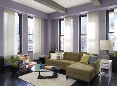 Cool color scheme. Blue. Living room. Complementary. Triadic ...