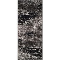 Adirondack Silver/Black 2 ft. 6 in. x 10 ft. Runner