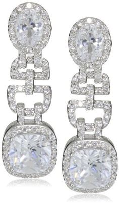 "CZ by Kenneth Jay Lane ""Classic Cushions"" Rhodium-Plated Pave Cushion Post Earrings CZ by Kenneth Jay Lane. $198.00. Luxe four prong settings Made in CN. The cubic zirconia used in this collection is meticulously hand cut and hand set. Made in China. Luxe four prong settings. Cubic zirconia does not have internal flaws; it sparkles with perfection"
