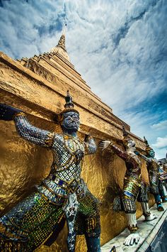 Photograph Wat Phra Kaew, Thailand Temple by Aronnsak Teelanuth on Visit Thailand, Bangkok Thailand, Thailand Travel, Asia Travel, Thailand Vacation, Vacation Travel, Chiang Mai, Laos, Travel Around The World
