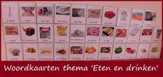 Woordkaarten thema 'Eten en drinken' | Klas van juf Linda