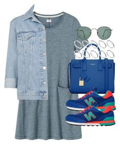"""""""Untitled #3183"""" by hellomissapple on Polyvore featuring Toast, Yves Saint Laurent, Topshop, New Balance, ASOS and Ray-Ban"""